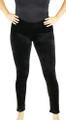 Soft Velvet Black Leggings One Size (32-13)