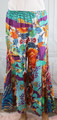100% Cotton Teal & Orange Floral Boho Pants (32-14)