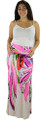 Soft Pink/White Bright Maxi Skirt (32-15)