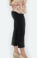 Cotton Black Capri W/Lace Design Sm-Plus Size (32-18)