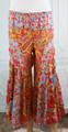 100% Cotton Blue/Orange Paisley Boho Pants (32-21)