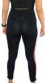 Black Sport Legging with Coral  Stripe (31-4)