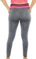 Gray Space-dyed w/Rasberry Sport Leggings (31-8)