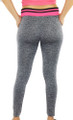 Gray Space-dyed w/Raspberry Sport Leggings (31-8)