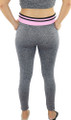 Gray Space-dyed w/Light Pink Sport Leggings (31-9)