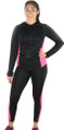 Sport Hoody & Matching Legging Black/Raspberry (31-11)