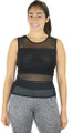 Black Fitted Sport Top w/Mesh Airflow (31-12)