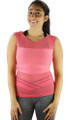 Coral Fitted  Sport Top w/Mesh Airflow (31-13)
