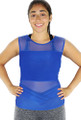 Royal Blue Fitted  Sport Top w/Mesh Airflow(31-14)