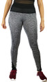 Gray Space-dyed w/Black Sport Leggings (31-15)