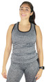 Gray Racer Back Sports Top Black Trim (31-20)