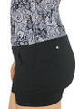 Black Cotton Workout Shorts Elastic Waist (31-21)