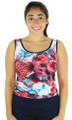 Nautical Print Fitted Sport Top (31-24)