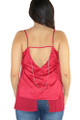 Sexy Spaghetti Strap Top Deep Red Suede  (33-3)