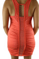 Sexy Sleeveless w/Bead Chain Accent Coral (33-7)