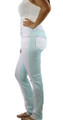 White/Light Blue Pants Crystal Accent (33-14)