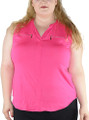 Plus Size Fuchsia Sleeveless Top (33-17)