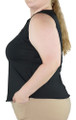Plus Size Black Sleeveless Top (33-18)
