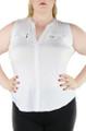 Plus Size White Sleeveless Top (33-19)