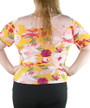 Plus Size Floral Print Pink/Yellow Top (33-20)