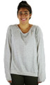 Gray Jersey Oversized Fit Distressed Top (37-4)