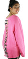 Hot Pink Oversized Fit Distressed  Jersey (37-7)