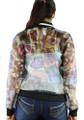 Long Sleeve Sheer Makeup Graphic Print Jacket (37-8)