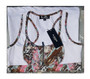 Zipper Front White Sports Top Marble Print (37-10)