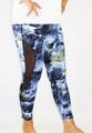 Blue Marble w/Mesh Yoga Sport Plus Size Leggings (37-13)