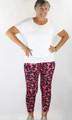 Raspberry/Black Aztec Yoga Sport Plus Size Leggings (37-14)