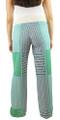 Green & Blue Palazzo Pants w/Crochet Waist Band (34-1)