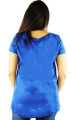 Comfy Royal Blue Tee w/Chiffon Pocket (34-7)