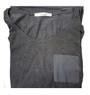 Comfy Charcoal Tee w/Chiffon Pocket (34-8)