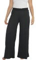 95% Rayon Comfy Loose Fit Black Palazzo Pants (34-12)