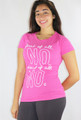 "100% Cotton Tee ""first of all NO"" Pink & White (35-2)"