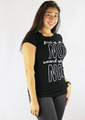 """100% Cotton Tee """"first of all NO""""  Black & White(35-5)"""