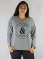 Long Sleeve Graphic Love & Hope Comfy Gray Top (35-14)