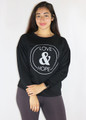 Long Sleeve Graphic Love & Hope Comfy Black Top (35-15)
