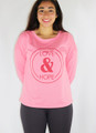 Long Sleeve Graphic Love & Hope Comfy Pink Top (35-16)