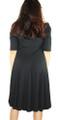 Short Sleeve Soft & Comfy Swing Black Dress (35-17)