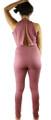Sleeveless Plunging Neck Rose Jumpsuit (35-23)