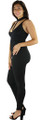 Spaghetti T Strap Black Jumpsuit (35-24)