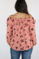 99% Rayon Off Shoulder Floral Print Rust Top (35-29)