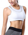 Yoga White Padded | Wireless Sports Bra (14-14)