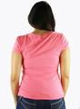 95% Cotton Short Sleeve Peach V-Neck Tee (K-4)