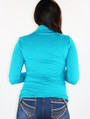100% Cotton Long Sleeve Turquoise High Neck w/Stars (K-8)