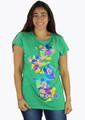 Junior Disney Tee Shirt Green Mickey Mouse (K-10)