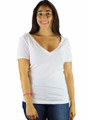 Short Sleeve Off White V Neck TEE (K-14)