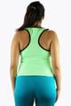 Neon Green w/Black Racer Back Yoga Top (K-21)