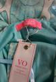 Unique! Sexy Aqua V-Neckline Spaghetti Strap Maxi Dress (40-14)